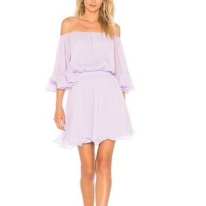 Beautiful Lilac Ruffle Mini Dress from REVOLVE